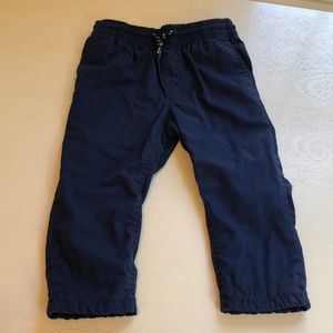 Carter's Lined navy Blue Pants 24M